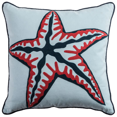 Rizzy Home Cooper Star Fish Decorative Pillow