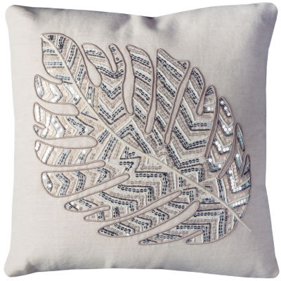 Rizzy Home Kenzie Leaf Pattern Decorative Pillow