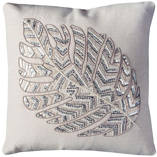 Rizzy Home Kenzie Leaf Pattern Decorative Pillow