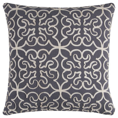 Rizzy Home Catriona Medallions Rowed Decorative Pillow