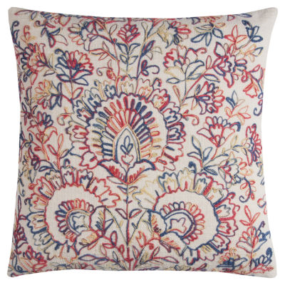 Rizzy Home Luna Textured Floral Medallions Decorative Pillow