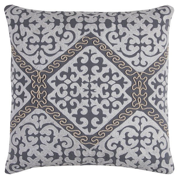 Rizzy Home Jade Medallions  Decorative Pillow