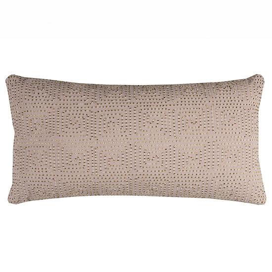 Rizzy Home Xena Medallions Beaded Decorative Pillow