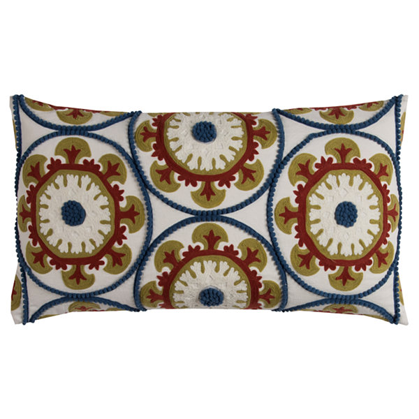 Rizzy Home Ariel Medallions Decorative Pillow
