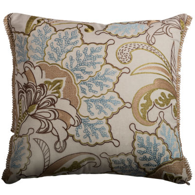 Rizzy Home Tonia Floral Decorative Pillow