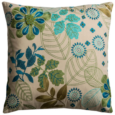 Rizzy Home Sydney Floral With Botanical DecorativePillow