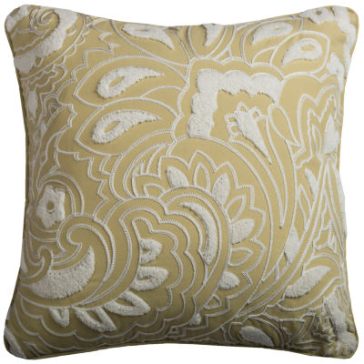 Rizzy Home Robert Floral And Damask Shapes Decorative Pillow