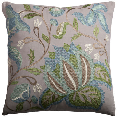 Rizzy Home Lucie Floral And Botanical Decorative Pillow