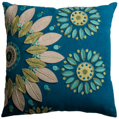 Rizzy Home Sofia Floral  Decorative Pillow