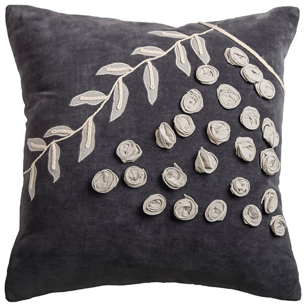 Rizzy Home Valentina Floral With Vine Decorative Pillow