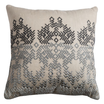 Rizzy Home Agustina Tribal Influenced Medallion Decorative Pillow
