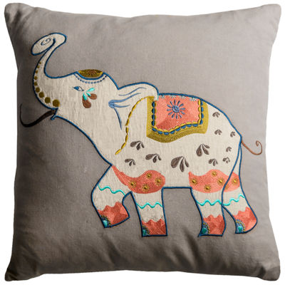 Rizzy Home Micaela Elephant Decorative Pillow