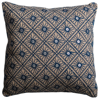 Rizzy Home Lucia Mirrored Discs Decorative Pillow