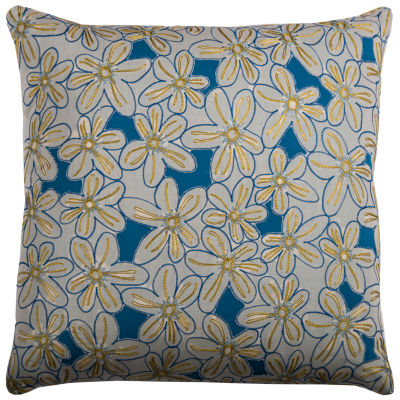 Rizzy Home Milagros Floral Decorative Pillow
