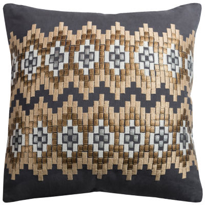 Rizzy Home Julieta Ikat Chevrons Decorative Pillow