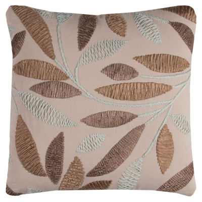 Rizzy Home Elena Leaves Decorative Pillow