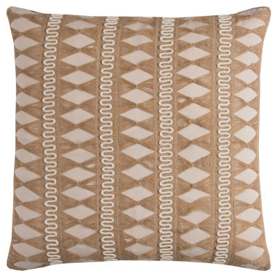 Rizzy Home Calliope Jute Pulled Chord Shows As A Stripe Decorative Pillow