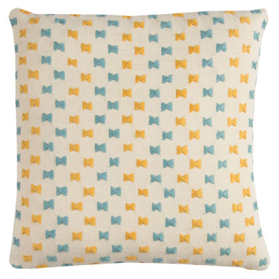 Rizzy Home Basil Embroidered Texture Shows As A Stripe Decorative Pillow