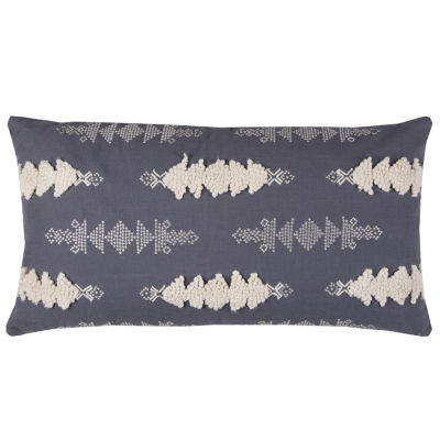 Rizzy Home Damon Arrows Textural Decorative Pillow