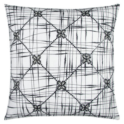 Rizzy Home Kristen Geometric Textured Abstract Decorative Pillow