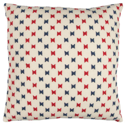 Rizzy Home Luciano Bowtie Dots Decorative Pillow