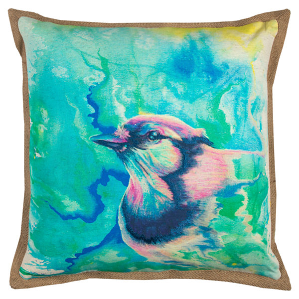 Rizzy Home Walter Bird Decorative Pillow