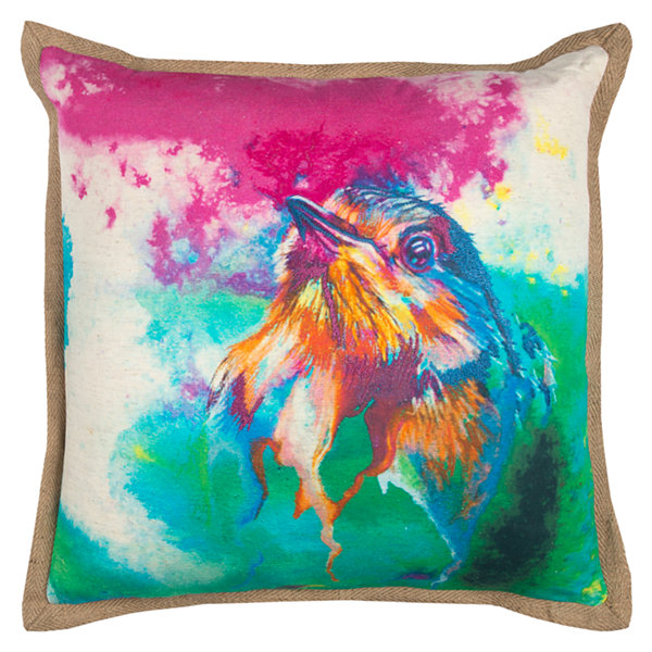 Rizzy Home Kristin Bird Decorative Pillow