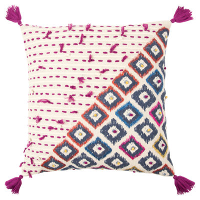 Rizzy Home Roberta Geometric Decorative Pillow