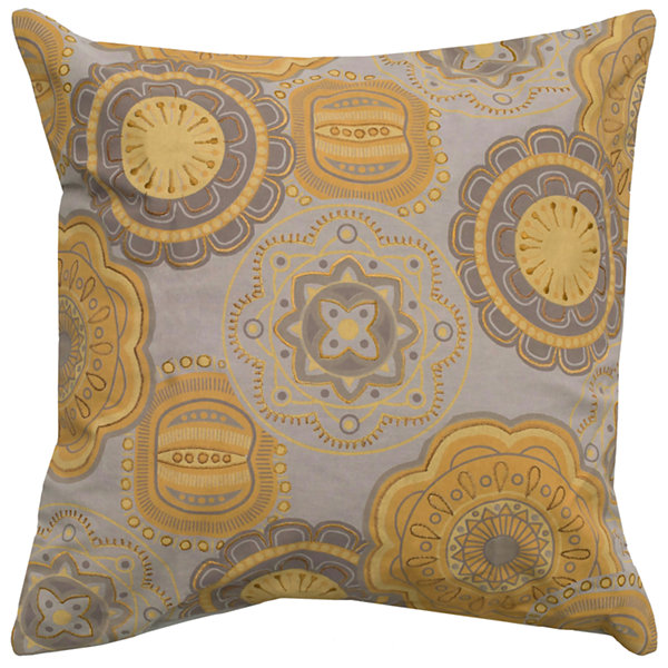 Rizzy Home Alex Floral With Medallion Decorative Pillow