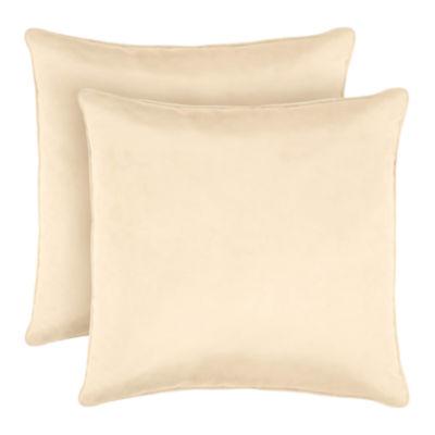 Laura Ashley Velvet Decorative Pillow Set