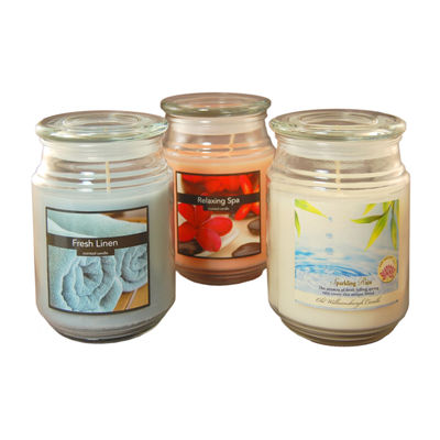 Scented Candles- Fresh Collection in 18oz Glass Jars (Set of 3)