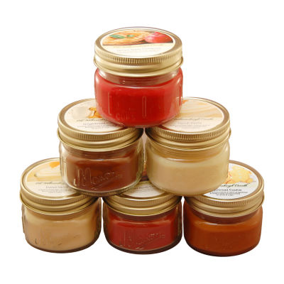 Scented Candles- Holiday Collection in 3oz Glass Mason Jars (Set of 6)