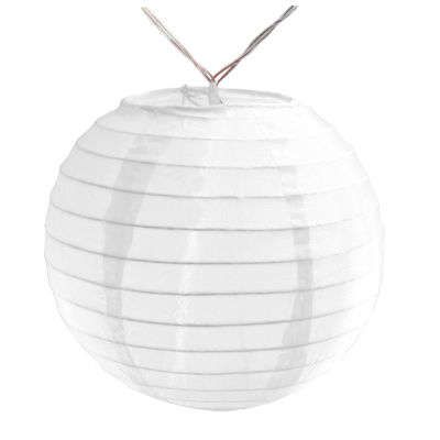 """Battery Operated String Light with 6"""" Nylon Lanterns (Set of 10)"""""""