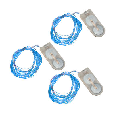 Battery Operated LED Waterproof Mini String Lights(60 total lights) Set of 3