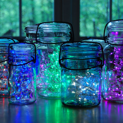 Battery Operated LED Waterproof Mini String Lightswith Timer (100 total lights) Set of 2