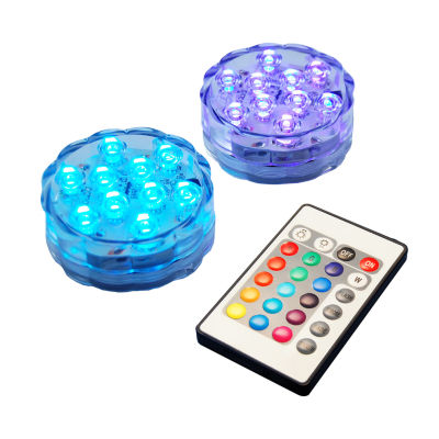 Submersible Battery Operated LED Lights with Remote Control (Set of 2)