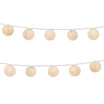 "Electric String Light with 3"" Nylon Lanterns (Setof 10)"""