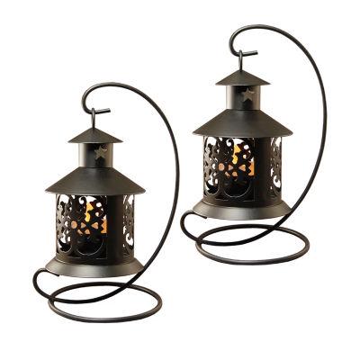 Metal Tabletop Lanterns (Set of 2)