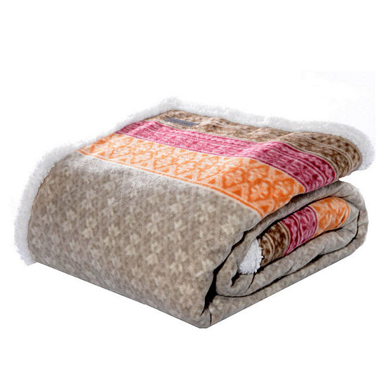 Eddie Bauer Fair Isle Khaki 50X70 Throw