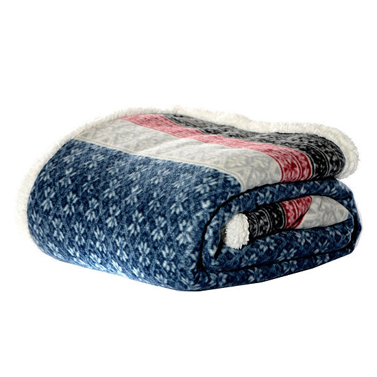 Eddie Bauer Fairisle Midnight 50X70 Throw