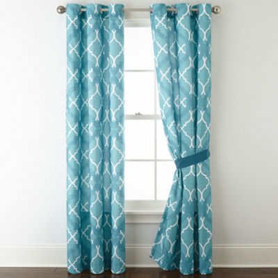 Home Expressions Resort Grommet-Top Curtain Panel