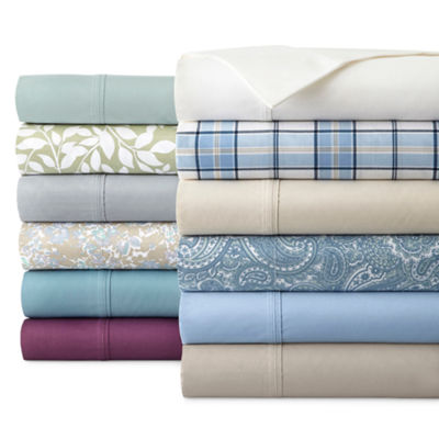 JCPenney Home™ 300tc Easy Care Solid and Print Sheet Sets