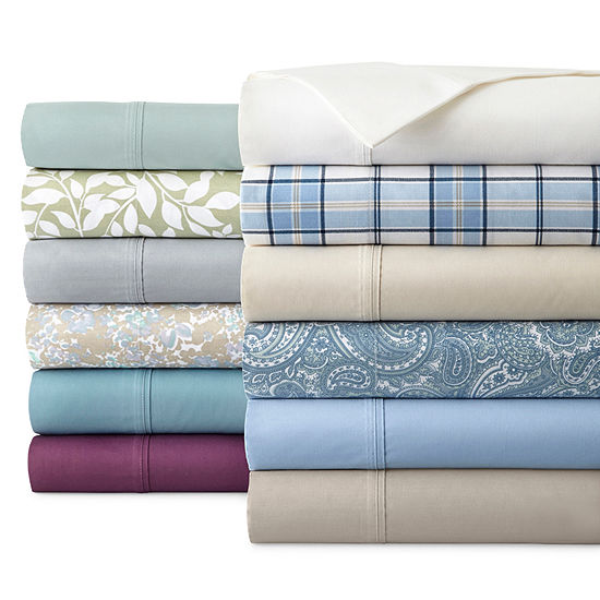 Jcpenney Home Tc Easy Care Solid Sheet Sets