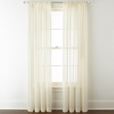 Liz Claiborne Camille Sheer Rod-Pocket Sheer Curtain Panel