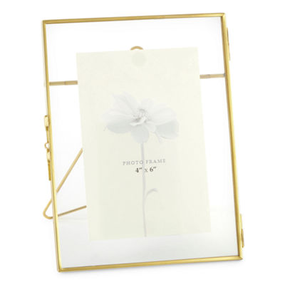 JCPenney Home 4x6 Gold Glass Frame Tabletop Frame