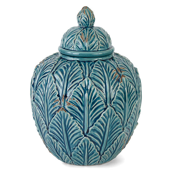 Jcpenney Home Teal Ceramic Jar