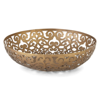 JCPenney Home Villa Metal Scroll Bowl Decorative Bowl