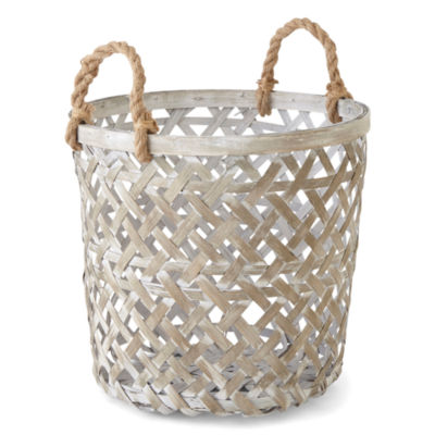 JCPenney Home Vista Small Gray Basket