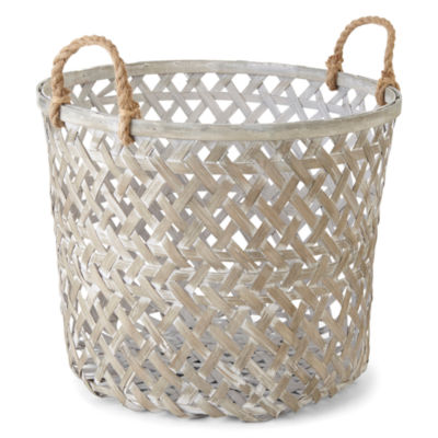 JCPenney Home Vista Large Grey Basket