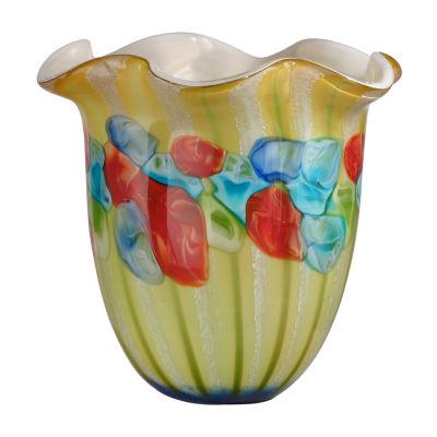 Dale Tiffany Rio Ruffle Art Glass Vase